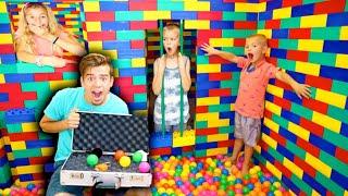 Girls LOCK Boys Inside GIANT Lego Escape ROOM JAIL!
