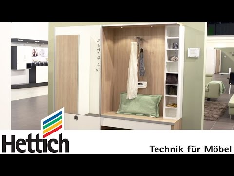 Technology for furniture in the hallway: Hettich sliding doors + drawers