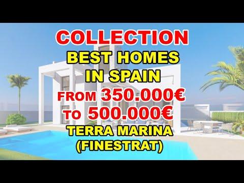 350000-500000€/Terra Marina/Finestrat/ Video BEST VILLAS in Spain/Houses under construction