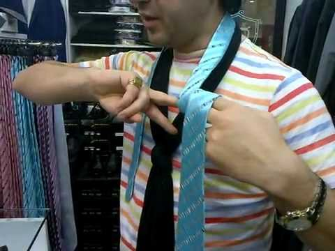 Самый быстрый способ завязывания галстука