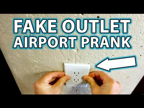 Fake Power Outlet at the Airport Prank