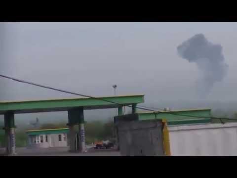 Two Ukrainian Mil Mi-24 'Hind'...