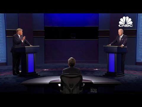 Joe Biden and President Donald Trump discuss Covid-19 in first debate