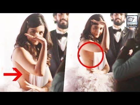 Alia Bhatt's Wardrobe Malfunction At Filmfare Awar