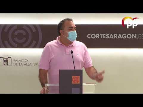 El PP clama ante la morosidad del Gobierno aragonés con los municipios