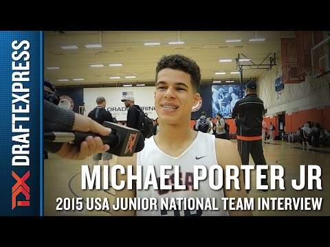 Michael Porter Jr 2015 USA Basketball Mini-Camp Interview