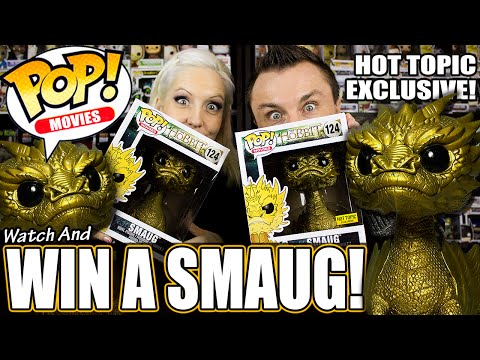 "GIVEAWAY! Hot Topic Exclusive 6"" Gold Metallic Smaug Funko Pop!"