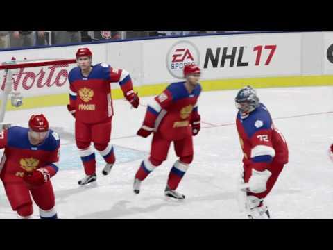 NHL 17 Финал кубка мира. Торжественное вручение трофея.Россия! (видео)