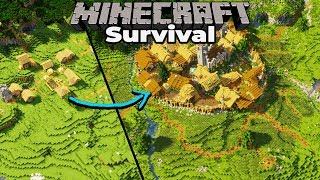 FINAL Plains Village Transformation : Minecraft 1.14 Survival Let's Play : Building with fWhip