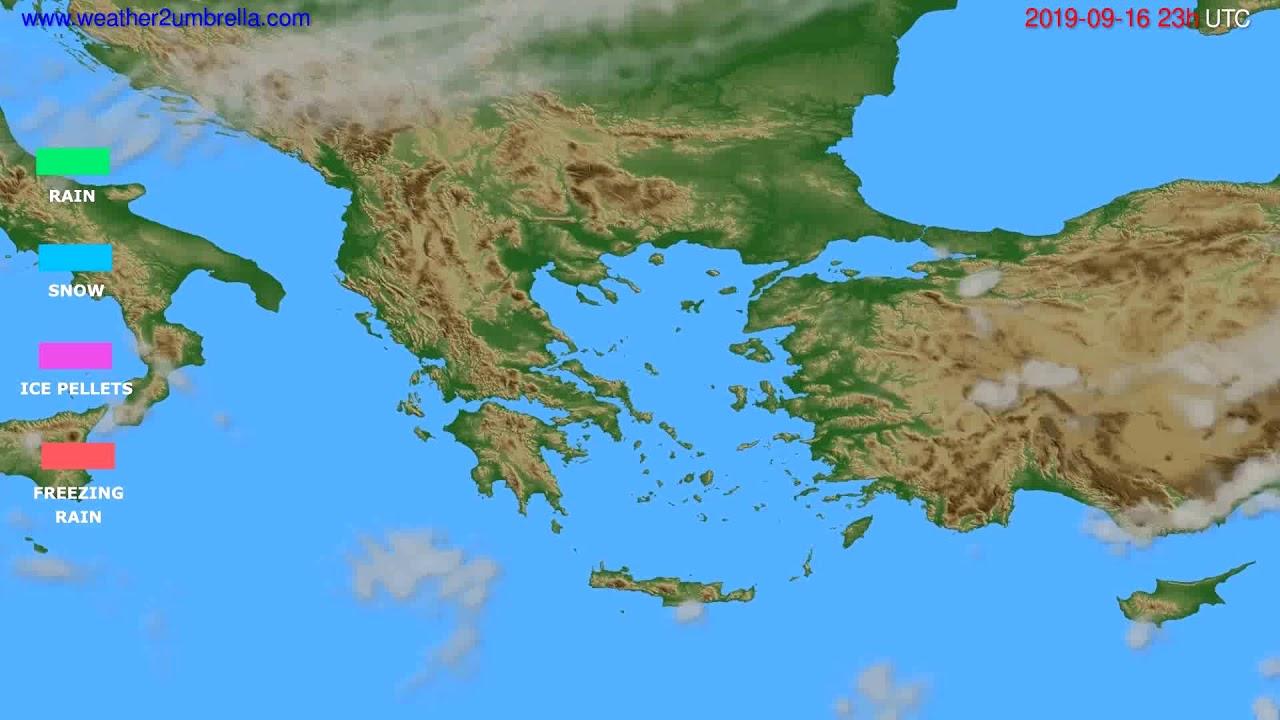 Precipitation forecast Greece // modelrun: 12h UTC 2019-09-13
