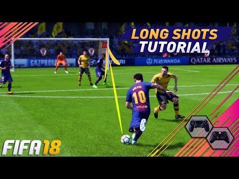 FIFA 18 LONG SHOT TUTORIAL - THE SECRET TO SCORE GOALS FROM LONG SHOTS IN FIFA 18 - TIPS & TRICKS
