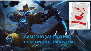 Download Lagu GAMEPLAY YSS SOLO MID BY MICIN NO 1 INDONESIA Mp3