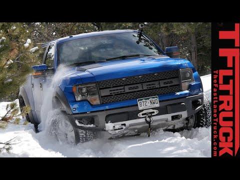 Raptor Rescue: 2015 Toyota Tacoma TRD vs F-150 Raptor Snowy Misadventure