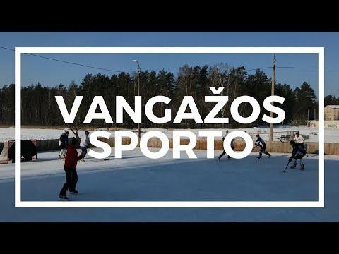 Inčukalna novada Vangažos atklāj jaunu sporta zāli un spēlē pagalmu hokeju