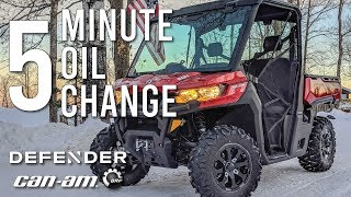 9. 5 Minute Oil Change // Can-Am Defender XT HD8 // HD10