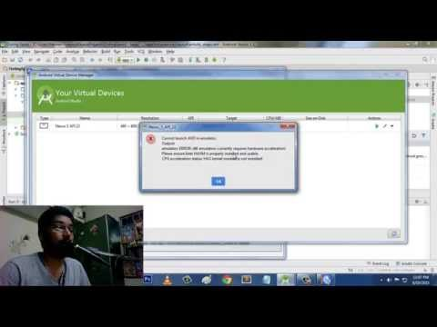 Android Studio Virtual Device Error Solved