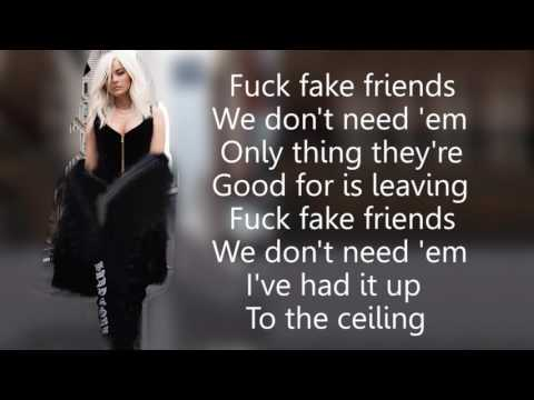 Video Bebe Rexha   F F F  Fuck Fake Friends feat  G Eazy Lyrics download in MP3, 3GP, MP4, WEBM, AVI, FLV January 2017