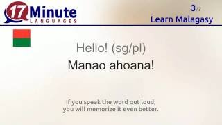 https://www.17-minute-languages.com/en/mg/ In this video you will learn the most important words in Malagasy. Watch this video on 5 different days and you will ...