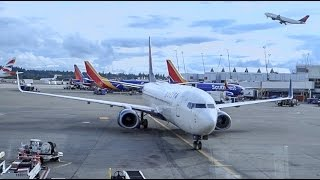 DELTA AIRLINES Boeing 737-800 / Takeoff Seattle / Land in Anch...