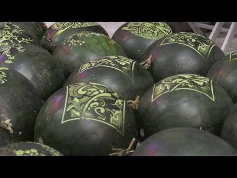 Vietnamese new year goes hi-tech with laser-engraved melons