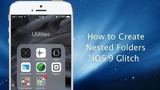 How to create nested folders on your iPhone or iPad in iOS 9, ios 9, ios, iphone, ios 9 ra mat
