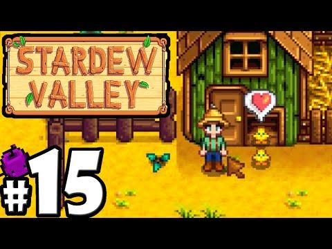 Stardew Valley Gameplay Walkthrough PART 15 - Baby Chickens! Coop Feeder, Summer Season, Copper Axe