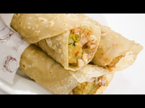 Frankie Recipe | How to Make Street Style Veg Franky Roll Recipe at Home | Indian Street Food