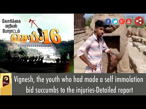Vignesh-the-youth-who-had-made-a-self-immolation-bid-succumbs-to-the-injuries-Detailed-report