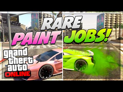 "GTA 5 Paint Jobs: Best Rare Paint Jobs Online! (Corrosive,Magnetic,Venom) ""GTA 5 Secret Paint Jobs"""