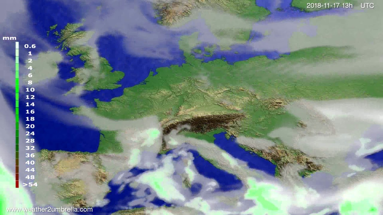 Precipitation forecast Europe 2018-11-14