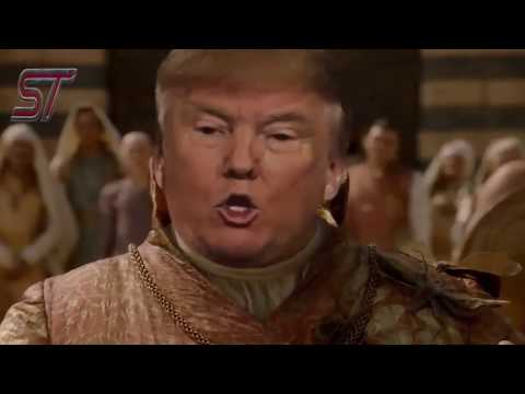 Donald Trump In Game of Thrones Funny Act