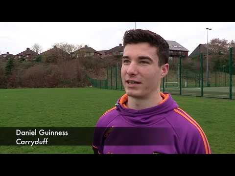 Carryduff player James Guinness speaks ahead of their Quarter Final tie