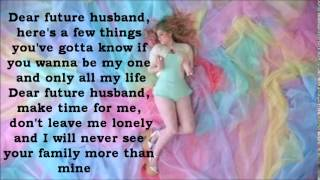 Meghan Trainor - Dear Future Husband Lyrics - YouTube