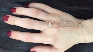DIY Chain Finger Bracelet - YouTube