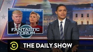 The Daily Show Matt Lauer Botches the Commander-In-Chief Forum