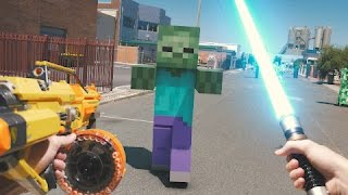 Minecraft In Real Life with Mods | Nerf, Mario, LEGO & More