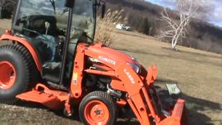 8. 2013 Kubota B3350 Compact Cab Tractor 4x4 Heat Air Loader Belly Mower Diesel For Sale