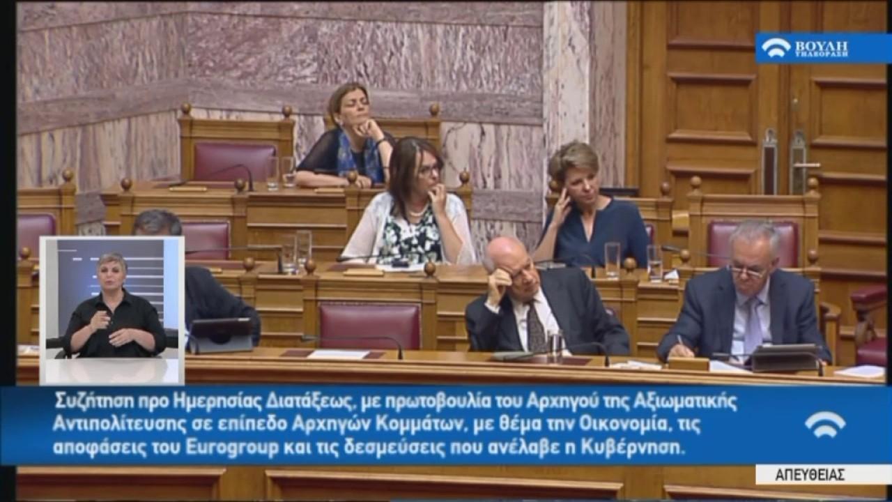 Γ.Χουλιαράκης (Αν.Υπ.Οικονομ) στην Προ Ημερησίας Διατάξεως συζήτηση(Οικον,Eurogroup) (03/07/2017)