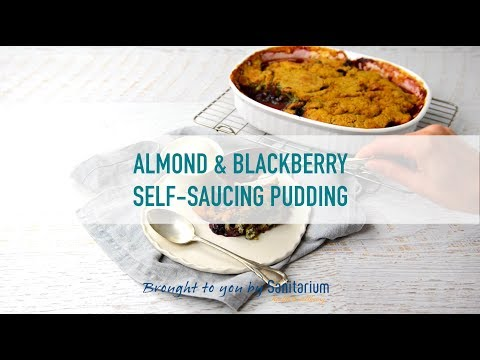 Almond and blackberry self-saucing pudding thumbnail 2