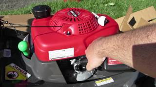 9. Honda HRX217 Lawn Mower Unboxing Review   Setup, Startup, First Impressions