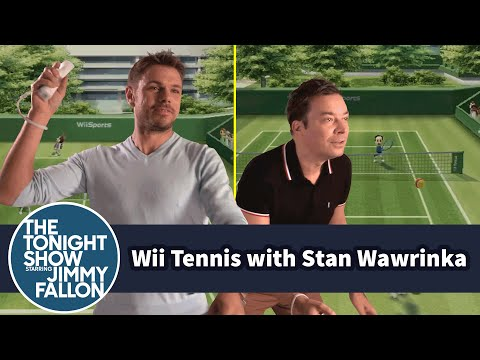 Jimmy Fallon Plays Wii Tennis With US Open Champion Stan