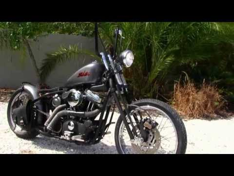Used 2003 Harley-Davidson XL883 Custom Bobber Motorcycle for sale (видео)