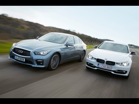 Infiniti Q50h vs BMW Active Hybrid 3