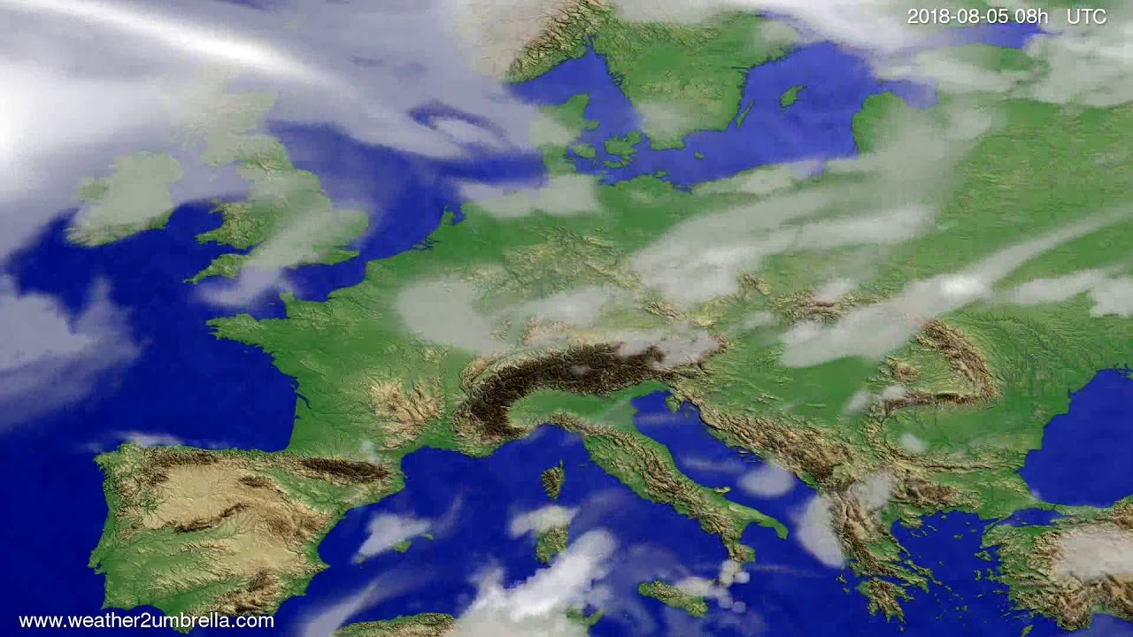 Cloud forecast Europe 2018-08-02
