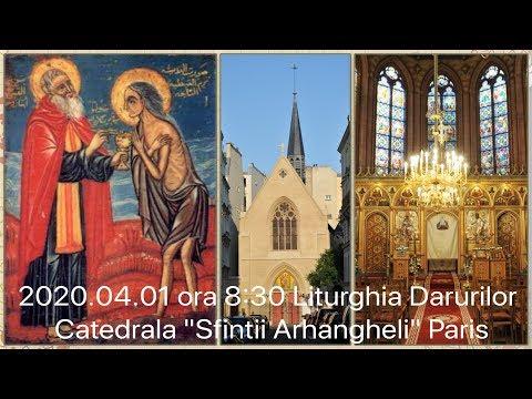 2020.04.01 ora 8:30 DIRECT Liturghia Darurilor, Catedrala din Paris