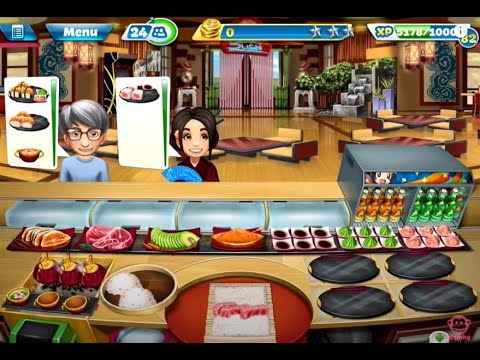 【Cooking Fever】SuShi Restaurant Level 40 (3 Stars)