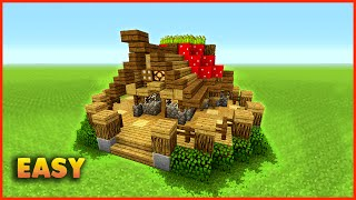 Minecraft: How To Build A Small Mushroom House Tutorial | Easy Small Survival House
