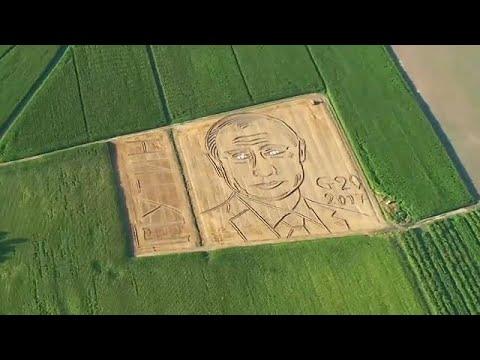Το πρόσωπο του Πούτιν «διακοσμεί» χωράφι