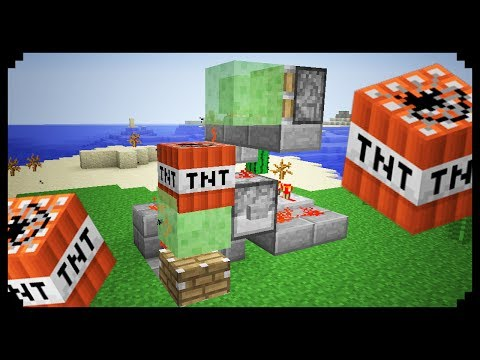 Minecraft how to make a slime block cannon