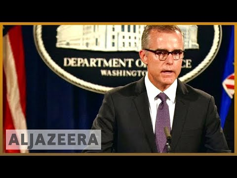 🇺🇸 FBI deputy chief Andrew McCabe fired, says he was being targeted | Al Jazeera English